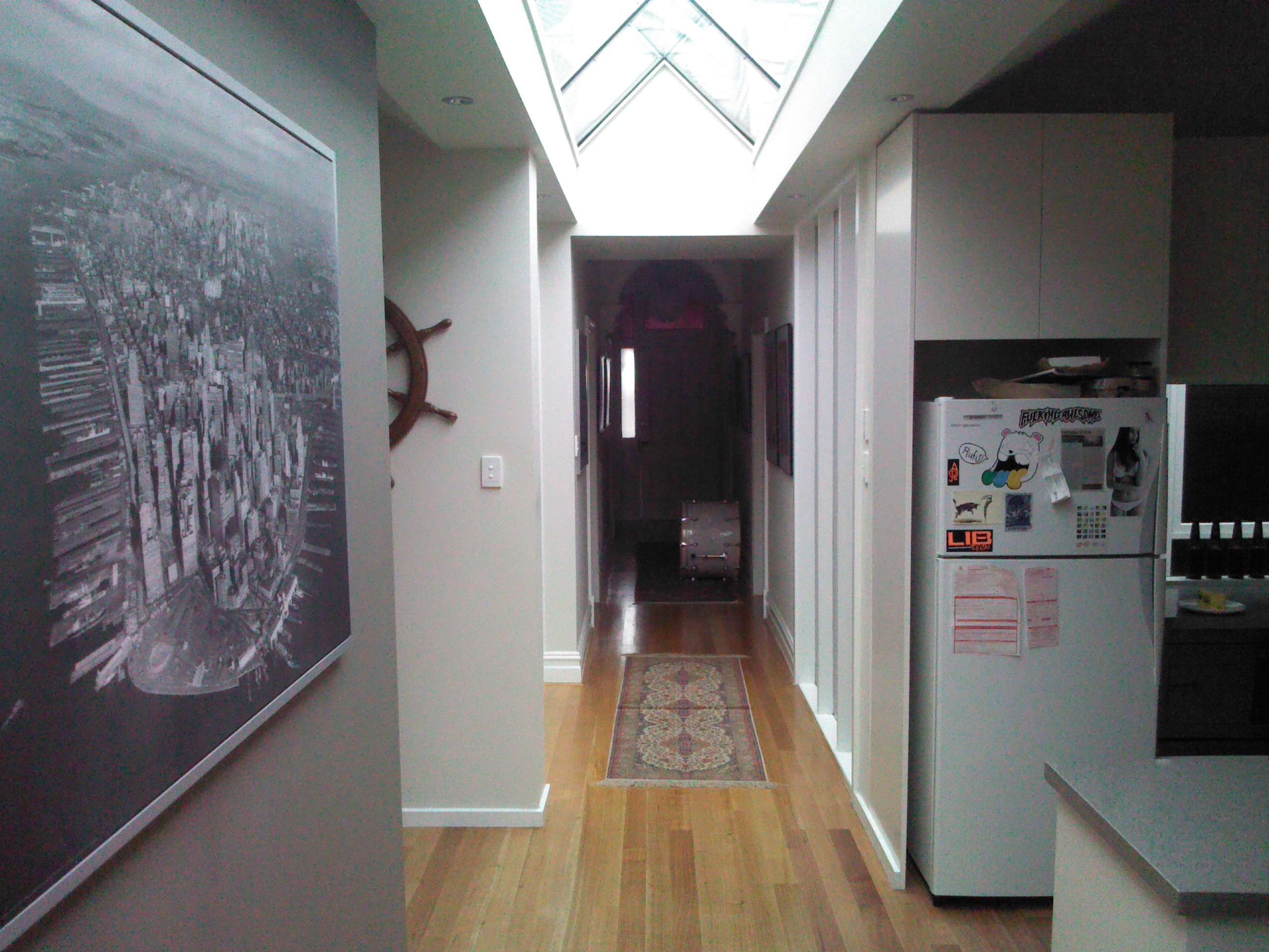 Hallway- West View-South Yarra Renovation